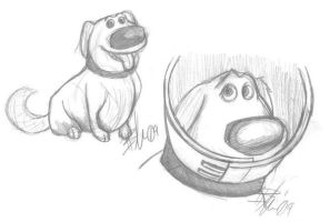 Dug the Dog - Pixar's Up by EnviousEnvy101