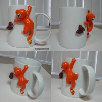 Charmander Coffee Beans Mug by ChibiSilverWings