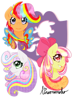 Rainbow Power - Cutie Mark Crusaders by linamomoko