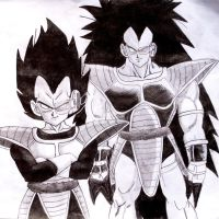 VEGETA AND RADITZ by Krizeii