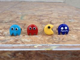 Pacman and Pacman's ghost ring collection by Saloscraftshop