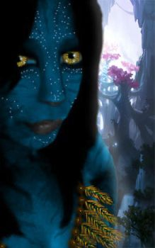 Jaie as Na'vi by CrystalsMuse