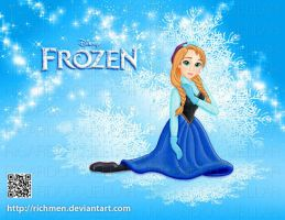 Anna Frozen Disney by Richmen