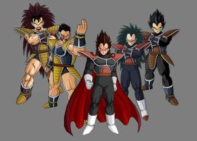 saiyan squad by siegfried005