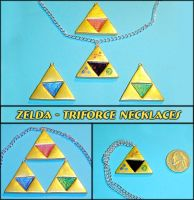 Zelda - Triforce Necklaces by YellerCrakka