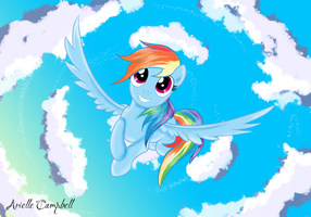 Rainbow Dash Poster by MermaidSoupButtons