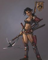 Female Ogre Blademaster? by CandyWarlock