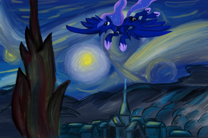 BTAG day 11: Luna's starry night by SAHikari