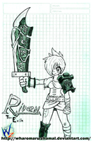 LoL - Riven the Exile by Wharomaru-Zhamal