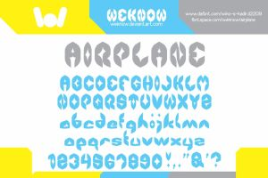 airplane font by weknow