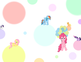 Mane 6  and Dots by ElliFlame
