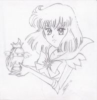 Sailor Saturn and the Chalice by Snivy94