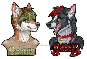 Cadrien and Casey Marker Badges by KatieHofgard