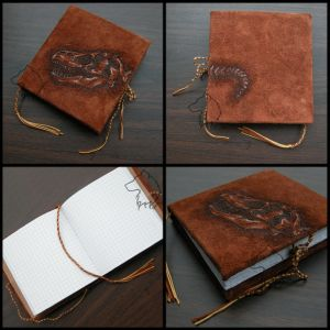 T-Rexbook - handmade notebook by Dark-Lioncourt