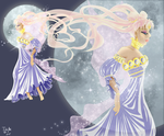 Neo Queen Serenity-The Moon by Tjibi