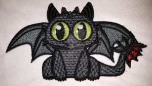 Chibi Toothless Machine Embroidery Design by kitten2781