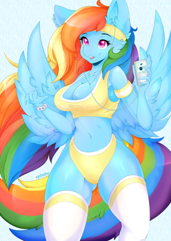 Rainbow Dash - Working up a Sweat by ayloulou