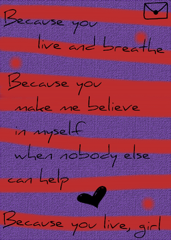 Because You Live - Typography by 10in1