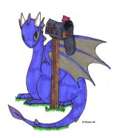 Mailbox Dragon by Mathas