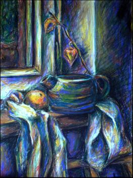 Violet still life by wholy