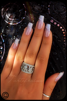 fishnet nails 1 by Tartofraises