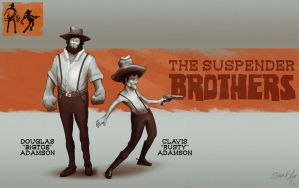 The Suspender Brothers by FlyingApplesaucer
