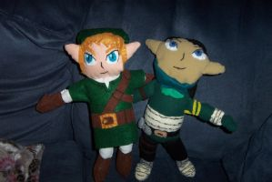 Link and Jade plush by MarcusWilliams