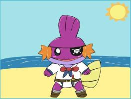 Shiny Mudkip the Pirate by Artrookie--yup
