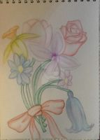 Watercolour Flowers by cosartmic