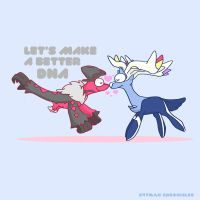 YVELTAL XERNEAS love by c4tman