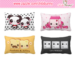 Kawaii rectangle American Mojo pillows by BunnyAndI
