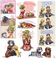 DFF doggie doodles 2 by emlan