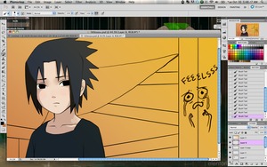 Little Sasuke WIP by Elentori