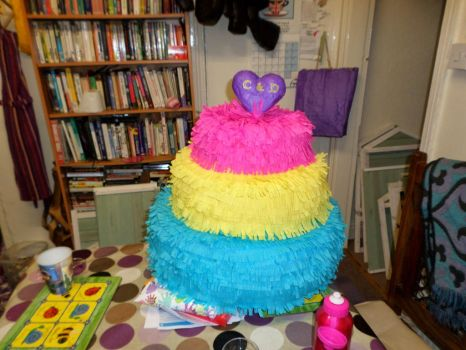 Wedding Cake Pinata by the-pinata-pimp