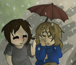 Sharing An Umbrella Isn't Very Conventional by doraeyaki