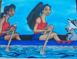 Pocahontas and Nakoma - Olympic rowers by happyeverafter