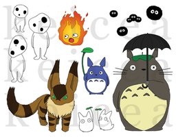 Studio Ghibli Stickers by keicea