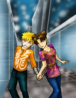Naruto and Tenten by My-Len