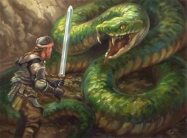snake quest scene (guildmasters) by egilthompson