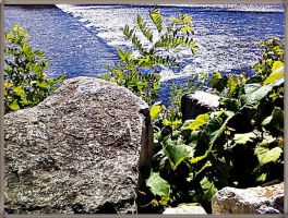 Rock Overlooks River by JDM4CHRIST