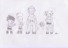 Birthday Gift-chibi German WC mascots by Katrina20Lin10