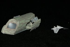 Stargate F-302 and Puddlejumper Paper model by ThunderChildFTC