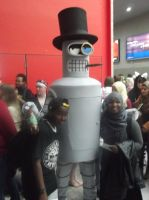 London MCM Expo - Bender Cosplayer. by DoctorWhoOne