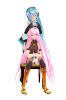 TDA Default Miku and Luka Edits by HarukaSakurai