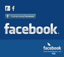 Facebook Logo and Connect Button by atifarshad