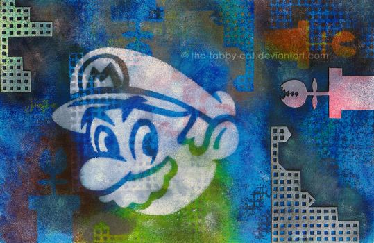 Mario of Stencils by The-Tabby-Cat