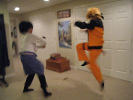 Naruto vs. Sasuke by zodiac-cat