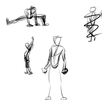 Figure Drawing Sketches by chaosdragon11590