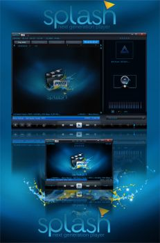 Splash Pro All-In-One Skins for AIMP3 Player by memo-se