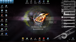 republik of gamers rainmeter by farisinsua